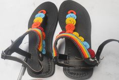 Leather Sandals decorated with beads
