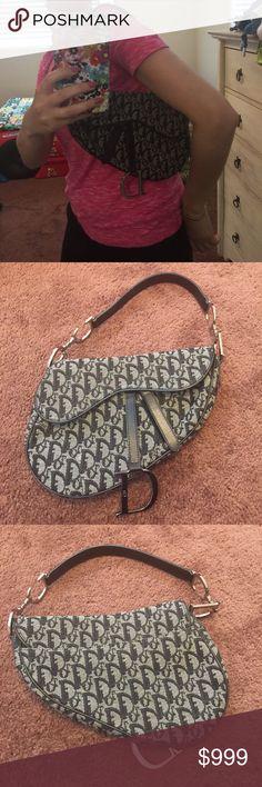 Like new authentic Christian Dior handbag Black logo handbag. Such a beautiful and rare piece! Christian Dior Bags