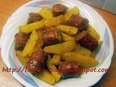 Λουκάνικο με πατάτες λεμονάτο - Τα φαγητά της γιαγιάς