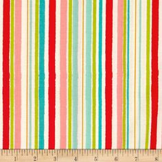 Riley Blake Hello Gorgeous Stripe Mint from @fabricdotcom  Designed by my Mind's Eye for Riley Blake Designs, this cotton print collection combines shabby chic with modern colorways and patterns. Perfect for quilting, apparel, and home decor accents. Colors include pink, red, aqua, turquoise, green, and yellow.