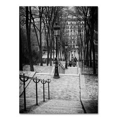 Found it at Wayfair.ca - Staircase Montmartre Paris Photographic Print on Wrapped Canvas