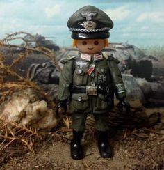 Playmobil-Custom-Oficial-Aleman-Wehrmacht-Artilleria-WW2-German-Allemand