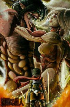 Eren, Annie & Mikasa