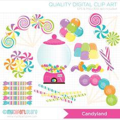 Digital Clipart - Candyland Clip Art / Digital Clipart - Instant Download