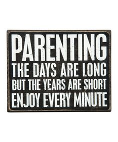 Another great find on #zulily! Wood 'Parenting' Box Sign #zulilyfinds