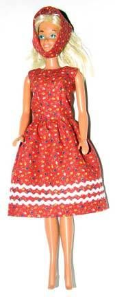 Free sewing pattern & directions for this adorable Barbie dress