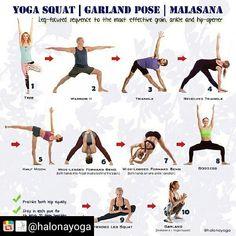 Leg focused sequence for the most effective groin, ankle and hip-opener [Garland Pose] | En etkili kasık, bilek ve kalça açıcı poz için bacak odaklı yoga dizini [Çelenk Duruşu] | Beinestrecker Sequenz für den effektivsten Leisten-, Knöchel- und Hüftöffner #yoga #halona #halonayoga #yogadaily #yogapractice #hipopener #malasana #stretching #workout #sundayfunday @RepostIt_app
