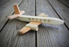 Wooden Toy Airplane. Wood Plane