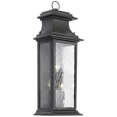 """Provincial Collection 25"""" High Charcoal Outdoor Wall Light - #3J304 