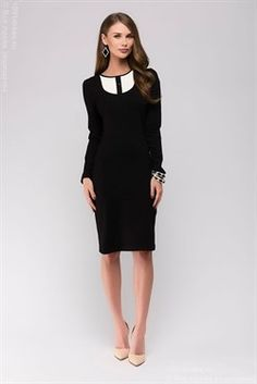elbise beyaz inset siyah midi uzunluğu
