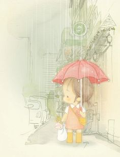 umbrellas.quenalbertini: Cute under an umbrella