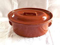 French Terrine Covered Dish, Croft Ware Pottery Casserole Dish, Vintage Pottery Casserole Dish, Vintage Oven Ware, Retro Kitchen by AgedwithGraceVintage on Etsy