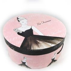 Hat box Belle Epoque pink black