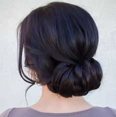 Simple and elegant wrap-around updo | 45 Glamorous Wedding updos for long and medium hair | CircleTrest