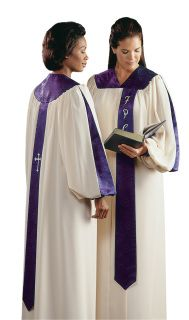 Streamlined and colorful, the popular SERENADE choir robe is easy on the budget.  Backed by our Guarantee of Quality, the Serenade's design and tailoring features include:   Extra-long front and back banners Adjustable Velcro® closed cuffs Front separating zipper that is guaranteed for life of robe Generously cut body and sleeves that are softly gathered over shoulders and across back