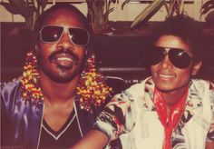 Michael Jackson Stevie Wonder <3 @Juan Moltisanti