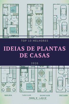 Inspire-se com modelos de Plantas de Casas Modernas. Top 10 melhores imagens de Plantas de Casas em 2020.