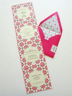 mexican tile motif wedding invitation « Lizzy B Loves ~ Wedding Invitations & Celebration Stationery