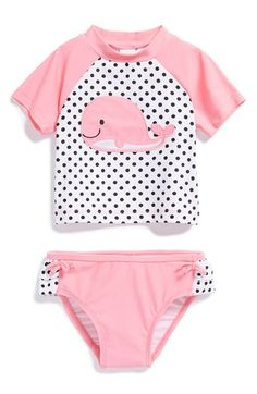 Little Me 'Whale' Two-Piece Rashguard (Baby Girls) available at #Nordstrom