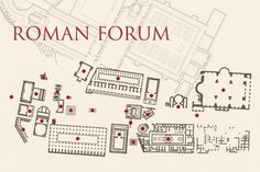 Roman ForumClickable Map  travel  Pinterest
