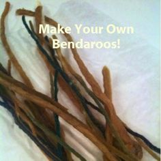 make your own bendaroos with yarn, paraffin wax, and a secret ingredient from the hardware store!