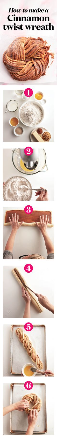 How to make a cinnamon-twist wreath   It's exactly like making cinnamon buns — with just 3 extra steps. Find out how to roll, twist and fold your way to beautiful Easter bread.