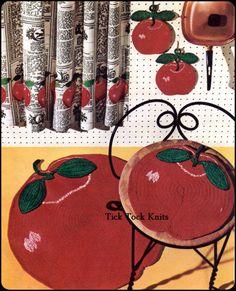 Crochet Pattern  Apple. / Padrão Crochê Maçã.