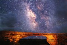 "Natural Bridges Park in Utah. The first ever international ""dark sky park"" allows you to see the night sky filled with stars. Would love to take the kids here and see the night sky the way it should be seen!"