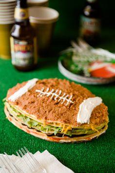 Super Bowl Seven Layer Dip Crepe Cake #HomeBowlHeroContest