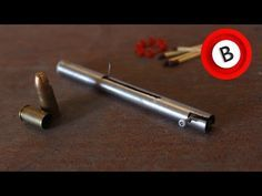 How to make a Pen Gun that shoots easy with matchsticks - YouTube