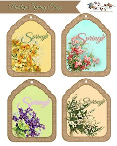 Elements I used in the designing my Burlap Spring Tags     The Tag   The Burlap Frame   Spring Lettering   The Joniquils   Th...