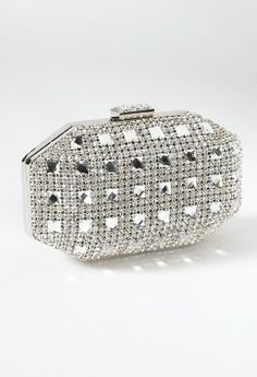 Crystal Front Box Bag with Top Closure from Camille La Vie and Group USA prom clutch
