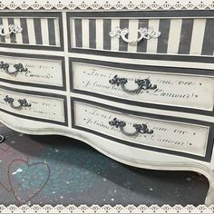 Terry from Vintage Market Mall & Salvage in North Ft. Myers, Florida did this gorgeous dresser in Dixie Belle Hurricane Gray and our new product Dixie Belle Dirt! Playing in the dirt really pays off! We LOVE this piece!