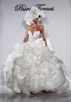 4152 by Kleinfeld-Pnina Tornai Exclusives, - Something ugly yet beautiful about this dress!