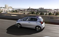 Download wallpapers Peugeot 108, 2018, compact hatchback, new silver 108, french cars, Peugeot