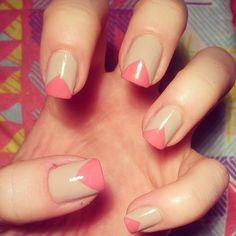prettycreative pink triangle nails
