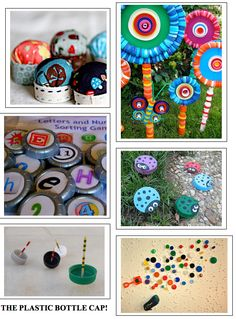 Ever wonder what to do with your plastic bottle caps? Here's a round-up of great reuse ideas.