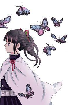 Demon Slayer, Slayer Anime, Beautiful Anime Girl, Anime Love, Fanart, Chibi Characters, Anime Princess, Plant Art, Cute Chibi