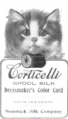 Vintage Corticelli thread trade card, ca. late 1800s
