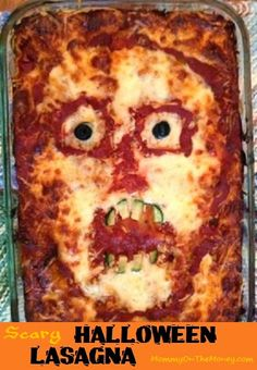 Mommy on the Money: Halloween Lasagnas - Skull and Scary Face