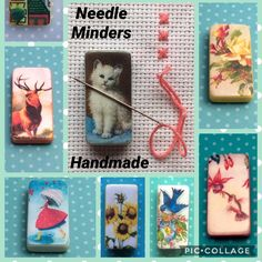 Keep your needles and pins where you can find them while your working  Needle minders £3.99 each plus postage.  many more designs available over in my shop      #crossstitch #crosstitch #crosstitching #needleminder #needleminders