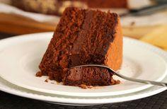 Scientifically Sweet: Hazelnut Rocher Cake [Sponge: cocoa powder, ground hazelnuts, brown sugar. Filling: chocolate milk & white, cocoa, 4 tbsp (56g) unsalted butter]