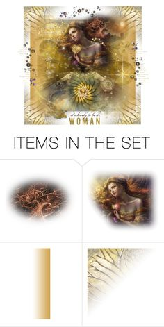 """""""It's lovely to be a woman"""" by zabead ❤ liked on Polyvore featuring art"""