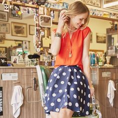 cute top, skirt is cute but I wonder if the skirt would work for me