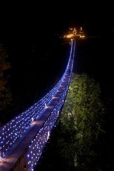 l puente colgante sobre el río Capilano en el norte de Vancouver, Columbia Británica. El puente es de 136 metros y está situado a una altura de 70 metros. Fue construido en 1889 por el ingeniero escocés George McCain.    Scooped by Jesús Hernández