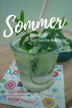 Sommergetränk in grün - The Apricot Lady - - Convenience Food, Summer Drinks, Going Vegan, Plant Based, Lady, Cool Stuff, Tableware, Super, Blog