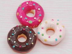 20 Mixed Kawaii Resin Donut with Icing by PleaseComeIn on Etsy, $8.49