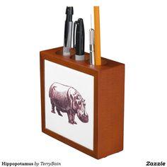 Hippopotamus Pencil Holder