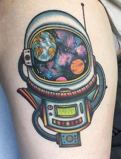 @madetolasttattoo #astronaut tattoo