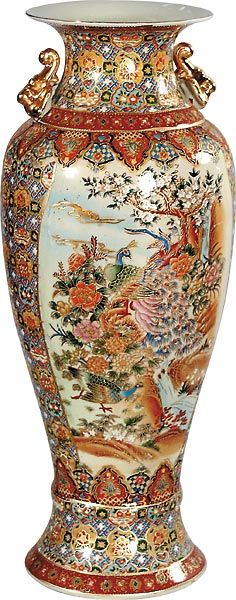 Large Chinese Famille Rose Vase Flowers Asian Pinterest Large